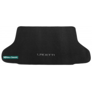 Коврик в багажник Chevrolet Lacetti / Nubira (хэтчбек) 2004-2011 - текстиль Classic 7mm Black Sotra