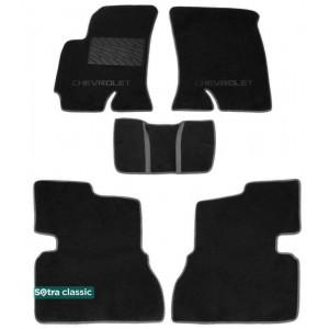 Двухслойные коврики Chevrolet Evanda 2003-2006 - Classic 7mm Black Sotra