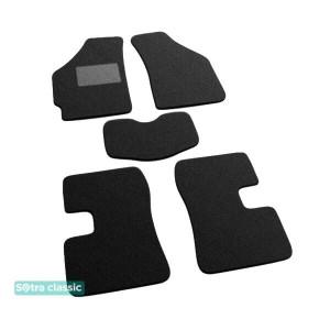 Двухслойные коврики Chery QQ / S11 2003→ - Classic 7mm Black Sotra