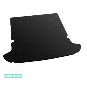 Коврик в багажник Chevrolet Orlando (mkI)(сложенный 3й ряд) 2011→ - текстиль Classic 7mm Black Sotra