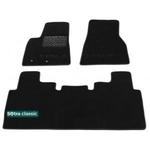Двухслойные коврики Tesla Model S 2012-2014 - Classic 7mm Black Sotra