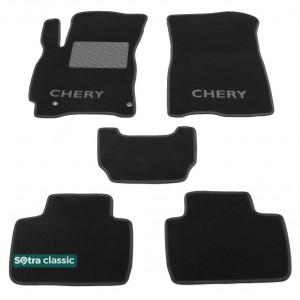 Двухслойные коврики Chery Tiggo 2 2016→ - Classic 7mm Black Sotra