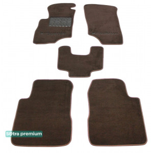 Двухслойные коврики для Mitsubishi Outlander (mkI) 2001-2008 10mm Chocolate Sotra Premium