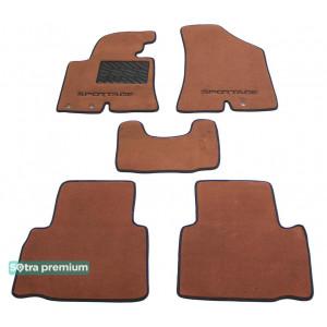 Двухслойные коврики для Kia Sportage (SL)(mkIII) 2010-2015 10mm Terracot Sotra Premium