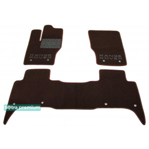 Двухслойные коврики для Land Rover Range Rover Sport (mkII) 2013→ 10mm Chocolate Sotra Premium