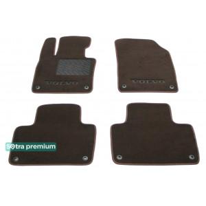 Двухслойные коврики для Volvo XC90 (mkII)(1-2 ряд) 2015→ 10mm Chocolate Sotra Premium