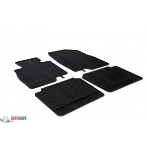 Ковры резиновые MAZDA 6 2012-4 door (T) 4 шт+фиксация - черные GledRing