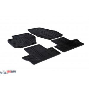 Ковры резиновые VOLVO s60 2010- (T) 4 шт+фиксация - черные GledRing