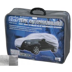 Тент автомобильный JC13401 M джип/минивен серый с подкладкой PEVA+PP Cotton 432х185х145 к.з.