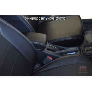Чехлы на сиденья Chevrolet Lacetti SD/HB/WAG  с 2004 (без задн. подлок) - серия AM-X (параллельная ДВОЙНАЯ строчка)- эко кожа - Автомания