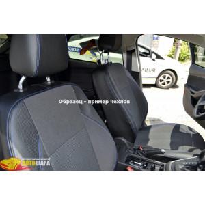 Чехлы для Renault Logan II седан (цельная) 2012- (шт.)- автоткань+экокожа - Союз Авто