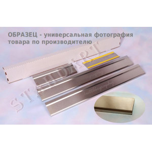Накладки на пороги BRILLIANCE M1, M2 2007- Standart - 4шт, наружные - на метал NataNiko