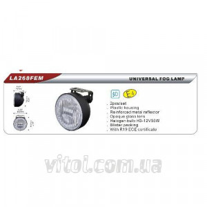 Фары дополнительные DLAA 268 FEM-W/H3-12V-55W/D=102mm