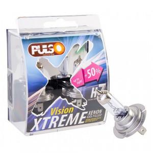 Лампы PULSO/галогенные H7/PX26D 12v55w+50% X-treme Vision/plastic box