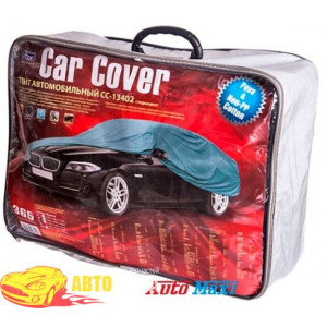 Тент автом. CC13402 M седан серый с подкладкой PEVA+Non PP Cotton/432х165х120 к.з