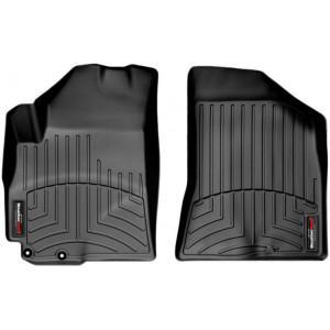 Ковры салона Hyundai Santa Fe 2010-12 с бортиком, черные, передние USA - Weathertech