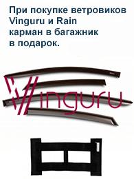 При покупке ветровиков Vinguru - карман в багажник в подарок.